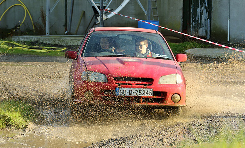 Nicole Drought and Aaron McElroy en route to a class win at the Birr & District Motor Club Endurance Trial